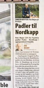 Petr in Nordlys newspaper 24-08-2013